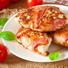 Herby Bacon Wrapped Chicken