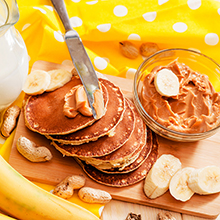 Choc Chip, Banana and Peanut Butter Pancakes