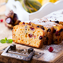 Greek Yoghurt Cranberry Orange Pound Cake